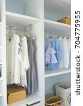 walk  in closet with cloth and... | Shutterstock . vector #704775955