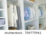 walk  in closet with cloth and... | Shutterstock . vector #704775961