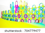 abstract dynamic interior with... | Shutterstock . vector #704779477
