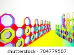 abstract dynamic interior with... | Shutterstock . vector #704779507