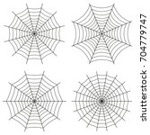 web  set of icons. halloween or ...   Shutterstock . vector #704779747