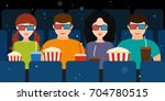 a company of two couples in the ...   Shutterstock . vector #704780515