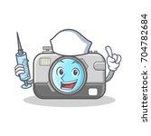 nurse photo camera character... | Shutterstock .eps vector #704782684