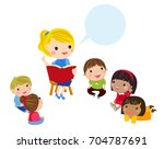 teacher and student | Shutterstock .eps vector #704787691