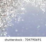gray winter shining background... | Shutterstock . vector #704790691