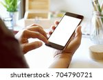 designer or artist holding... | Shutterstock . vector #704790721