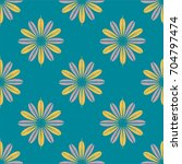 new color seamless pattern with ... | Shutterstock .eps vector #704797474