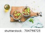 healthy vegan energy boosting... | Shutterstock . vector #704798725