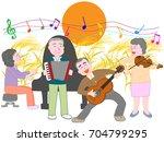 a concert of the elderly held... | Shutterstock .eps vector #704799295