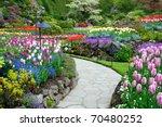 Stock photo butchart garden in spring victoria british columbia canada 70480252