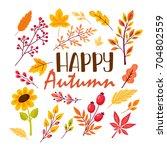 fall festival template. bright... | Shutterstock .eps vector #704802559