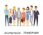 office team   vector cartoon... | Shutterstock .eps vector #704809489