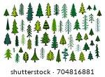 cute abstract conifer evergreen ... | Shutterstock .eps vector #704816881