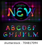 colorful dynamic liquid ink or... | Shutterstock .eps vector #704817094