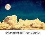A Fantasy Cloudscape With Stars ...