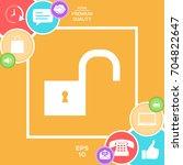 unlock icon | Shutterstock .eps vector #704822647