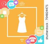 sundress  evening dress ... | Shutterstock .eps vector #704824471