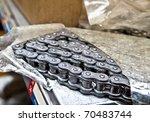 motorcycle chain - stock photo