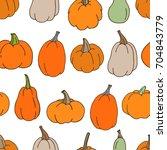 hand drawn vector seamless... | Shutterstock .eps vector #704843779