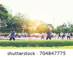 blurred image of people play... | Shutterstock . vector #704847775