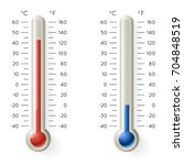 meteorology thermometer... | Shutterstock .eps vector #704848519