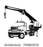 big truck crane vector | Shutterstock .eps vector #704863519