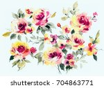 Stock photo flowers are full of romance the leaves and flowers art design 704863771
