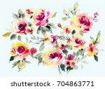flowers are full of romance the ... | Shutterstock . vector #704863771