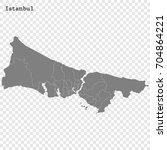 high quality map of istanbul is ... | Shutterstock .eps vector #704864221