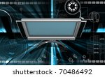 digital illustration of lcd... | Shutterstock . vector #70486492