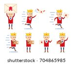 Set Of Old King Characters Wit...