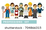 people occupation characters... | Shutterstock .eps vector #704866315