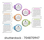 abstract options infographics... | Shutterstock .eps vector #704870947