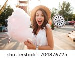 close up portrait of a smiling... | Shutterstock . vector #704876725