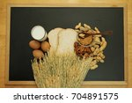 food allergy. food can cause...   Shutterstock . vector #704891575