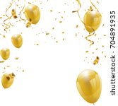celebration party banner with... | Shutterstock .eps vector #704891935