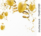 celebration party banner with... | Shutterstock .eps vector #704891989