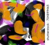 seamless art painter abstract... | Shutterstock . vector #704899465