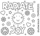 Radiate Joy Coloring Page....