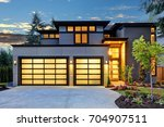 beautiful exterior of... | Shutterstock . vector #704907511