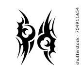 tattoo tribal vector design.... | Shutterstock .eps vector #704911654