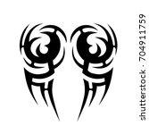 tribal tattoo art designs.... | Shutterstock .eps vector #704911759