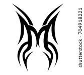 tattoo tribal vector design.... | Shutterstock .eps vector #704918221