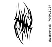 tattoo tribal vector design.... | Shutterstock .eps vector #704918239