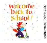 flat back to school... | Shutterstock . vector #704919337