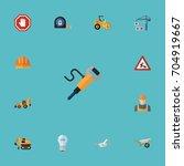 flat icons pneumatic  hardhat ... | Shutterstock .eps vector #704919667