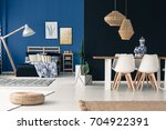 open loft in shades from deep... | Shutterstock . vector #704922391