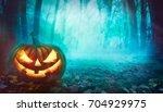 halloween background. spooky... | Shutterstock . vector #704929975