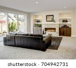 family room design with... | Shutterstock . vector #704942731