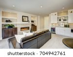 family room design with wet bar ... | Shutterstock . vector #704942761